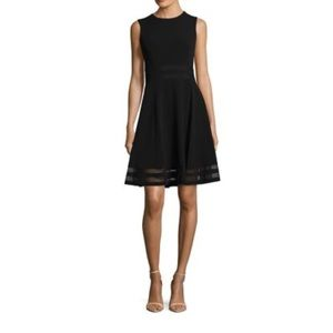 Black Calvin Klein fit and flare dress